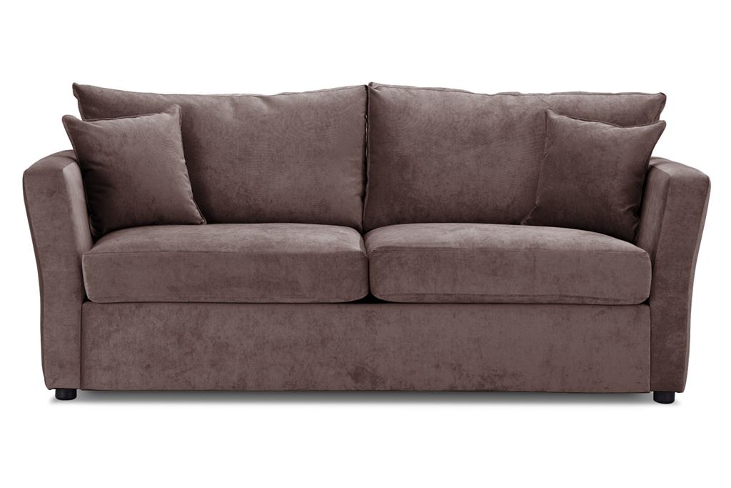 Special Offer Medium Sofa Bed with Flared Arms finished in Mink 1 Danza Fabric