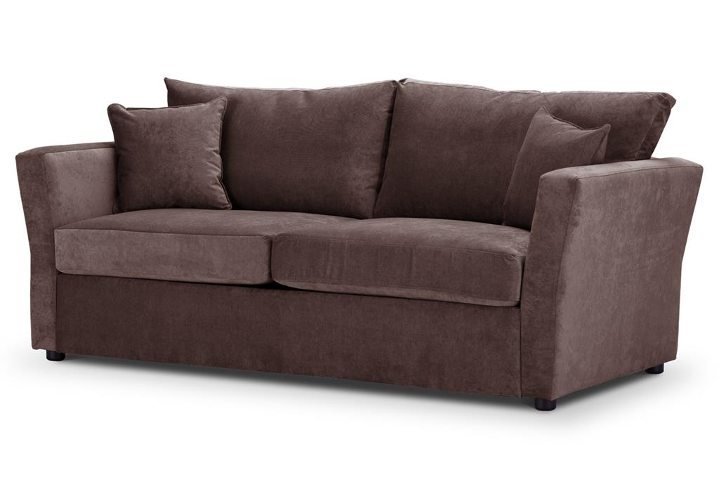 Special Offer Medium Sofa Bed with Flared Arms finished in Mink 2 Danza Fabric
