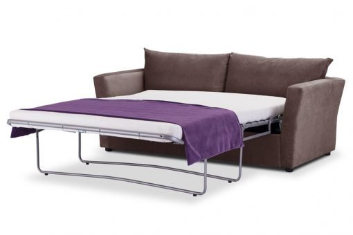 Special Offer Medium Sofa Bed with Flared Arms finished in Mink 3 Danza Fabric