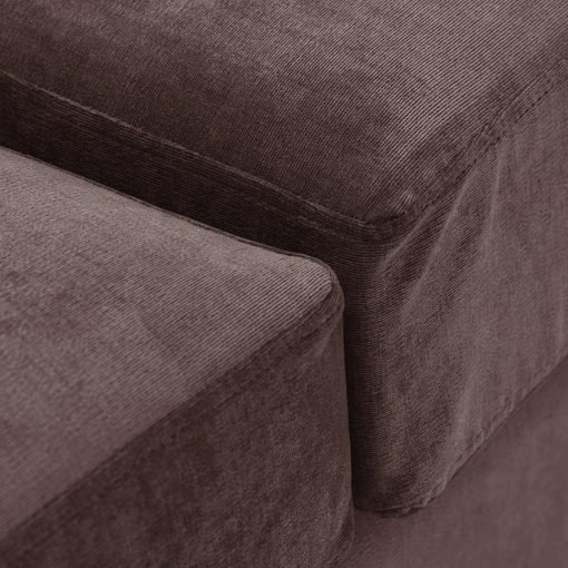 Special Offer Medium Sofa Bed with Flared Arms finished in Mink 5 Danza Fabric