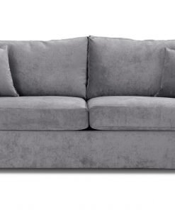 Special Offer Medium Sofa Bed with Flared Arms finished in Silver 1 Danza Fabric