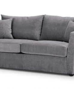 Special Offer Medium Sofa Bed with Flared Arms finished in Silver 2 Danza Fabric