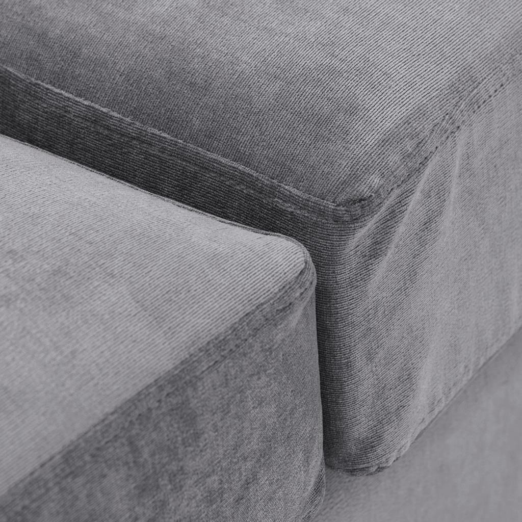 Special Offer Medium Sofa Bed with Flared Arms finished in Silver 5 Danza Fabric