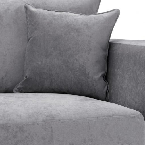 Special Offer Medium Sofa Bed with Flared Arms finished in Silver 6 Danza Fabric