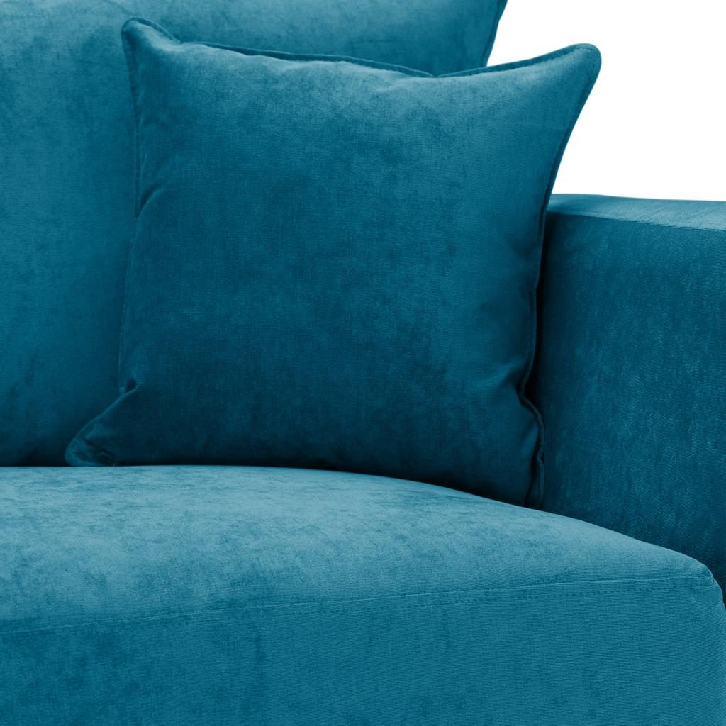Special Offer Medium Sofa Bed with Flared Arms finished in Teal 1 Danza Fabric