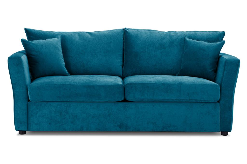 Special Offer Medium Sofa Bed with Flared Arms finished in Teal 2 Danza Fabric