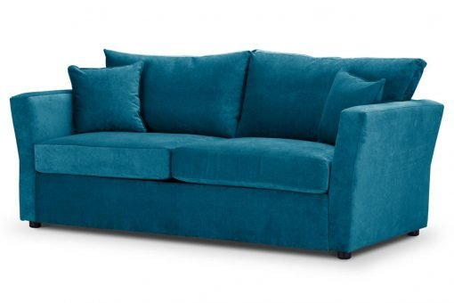 Special Offer Medium Sofa Bed with Flared Arms finished in Teal 3 Danza Fabric