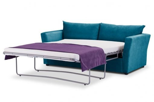 Special Offer Medium Sofa Bed with Flared Arms finished in Teal 4 Danza Fabric