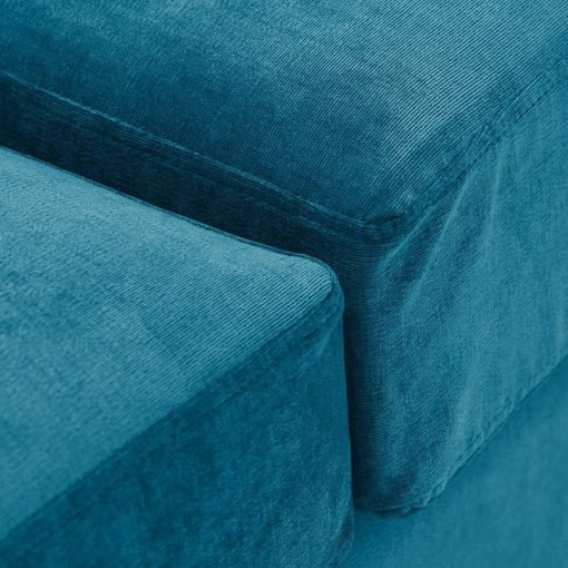Special Offer Medium Sofa Bed with Flared Arms finished in Teal 6 Danza Fabric