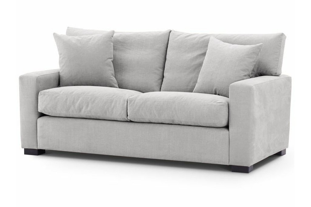 Special Offer Medium Sofa Bed The London Chic Model medium in Linara Siver fabric 4