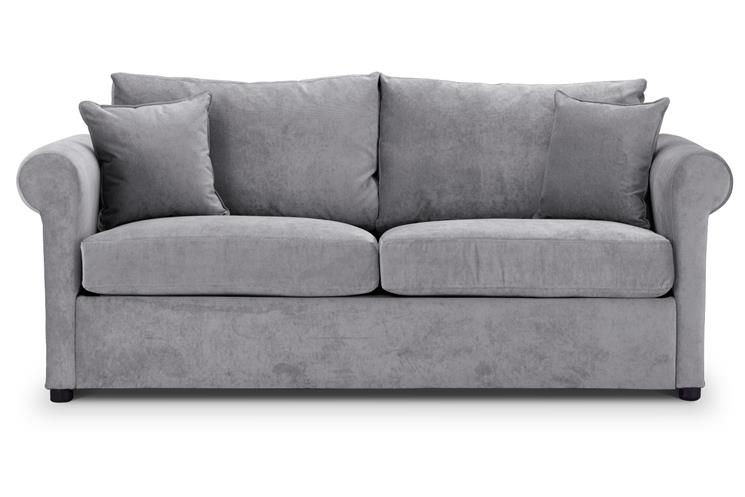 British Made Sofa Bed | Special Offer | Rounded Arms | Danza Fabric | Silver