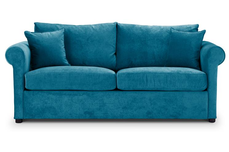 British Made Sofa Bed | Special Offer | Rounded Arms | Danza Fabric | Teal