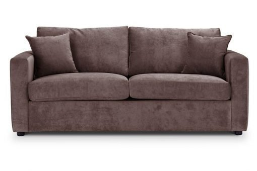 British Made Sofa Bed | Special Offer | Square Arms | Danza Fabric | Mink