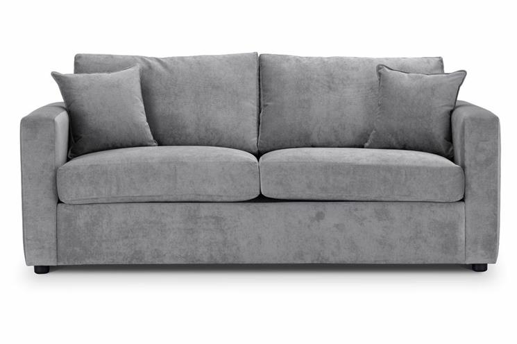competitive price 2a59b 389ad British Made Sofa Bed | Special Offer | Square Arms | Danza Fabric | Silver