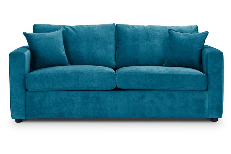 British Made Sofa Bed | Special Offer | Square Arms | Danza Fabric | Teal