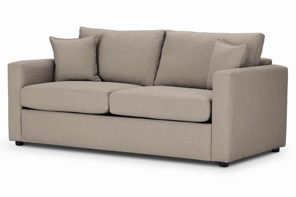 Sofa Bed square arm in Emporio Linen fabric