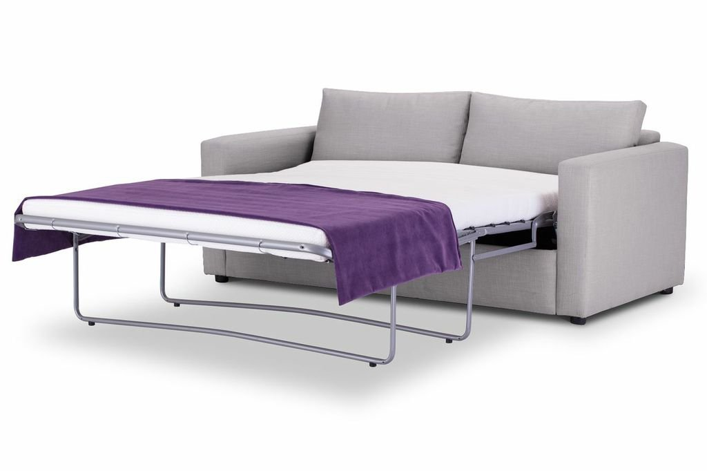 Sofa Bed square arm in Emporio Silver fabric