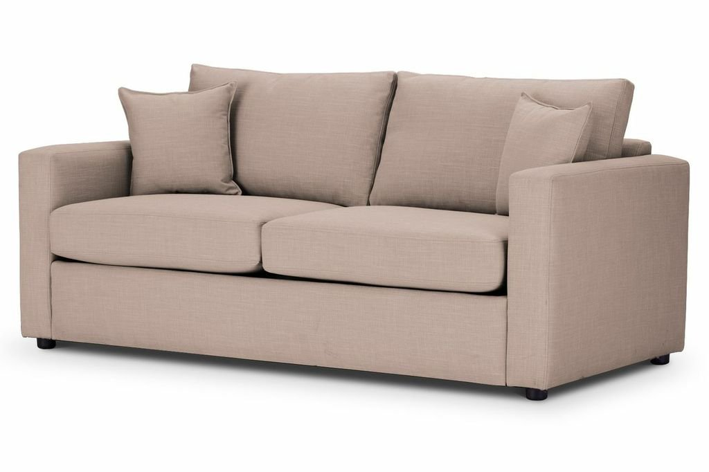 Sofa Bed square arm in Emporio Stone fabric