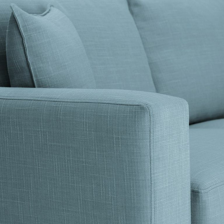 Sofa Bed square arm in Emporio Teal fabric
