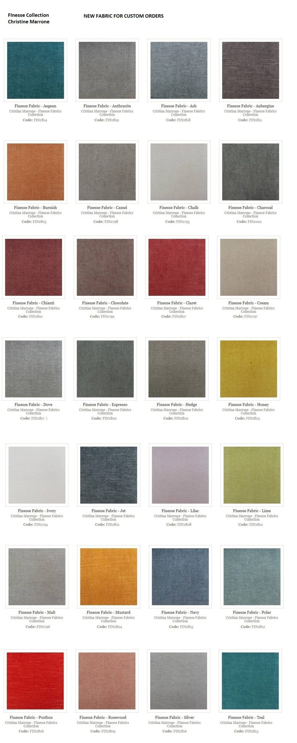 FINESSE FABRIC COLLECTION 2021