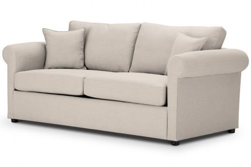 Sofa Bed Rounded arms in Emporio Cream Fabric