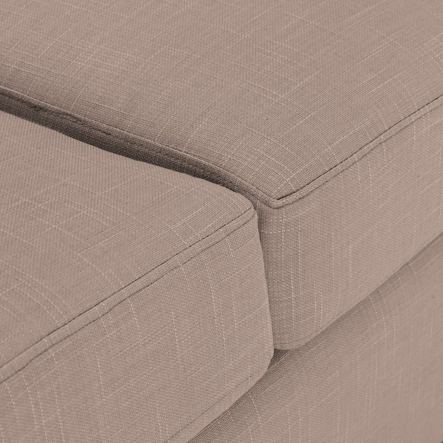 Sofa Bed Rounded arms in Emporio Stone Fabric