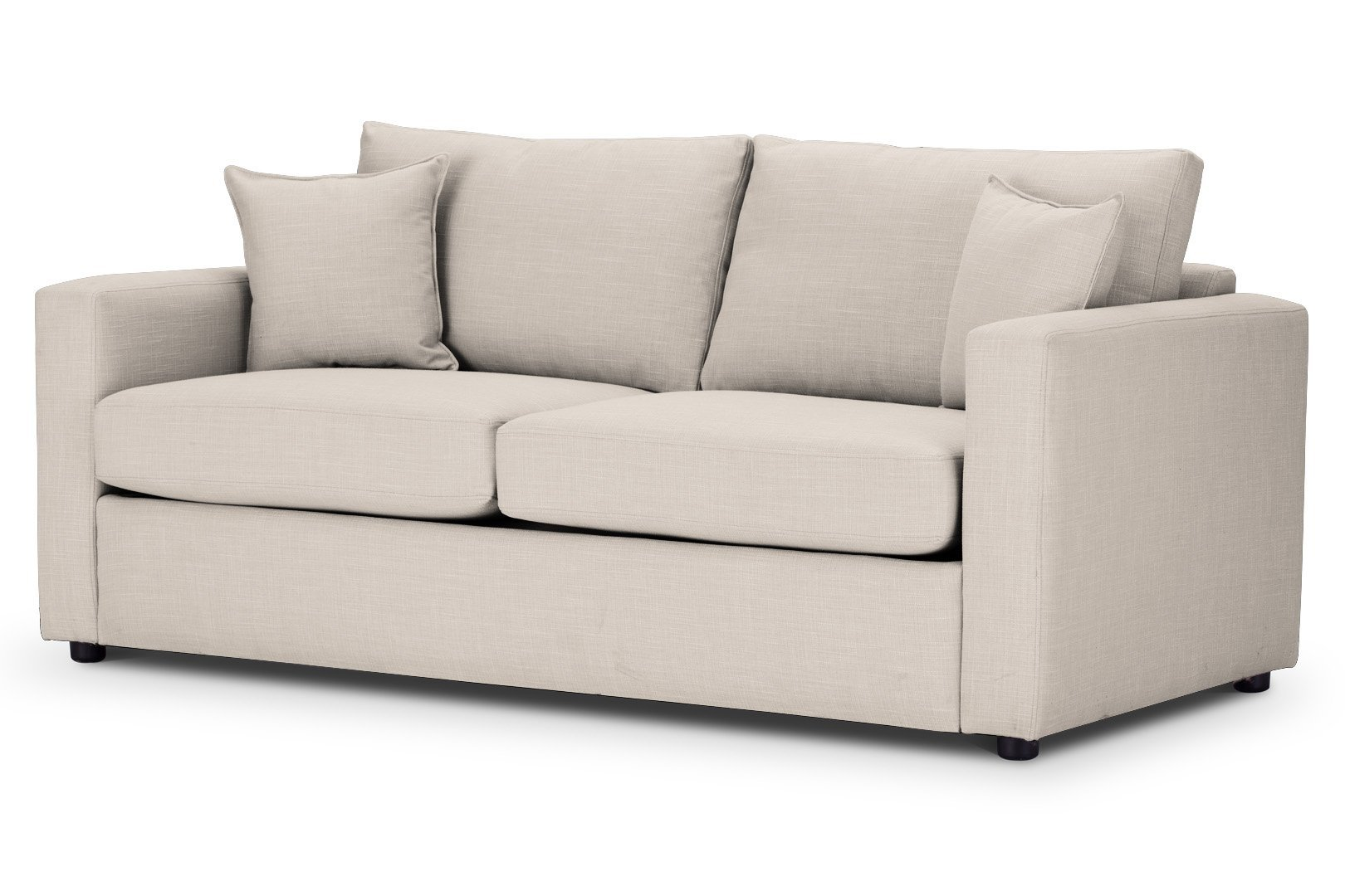 Sofa Bed Square arms in Emporio Cream Fabric