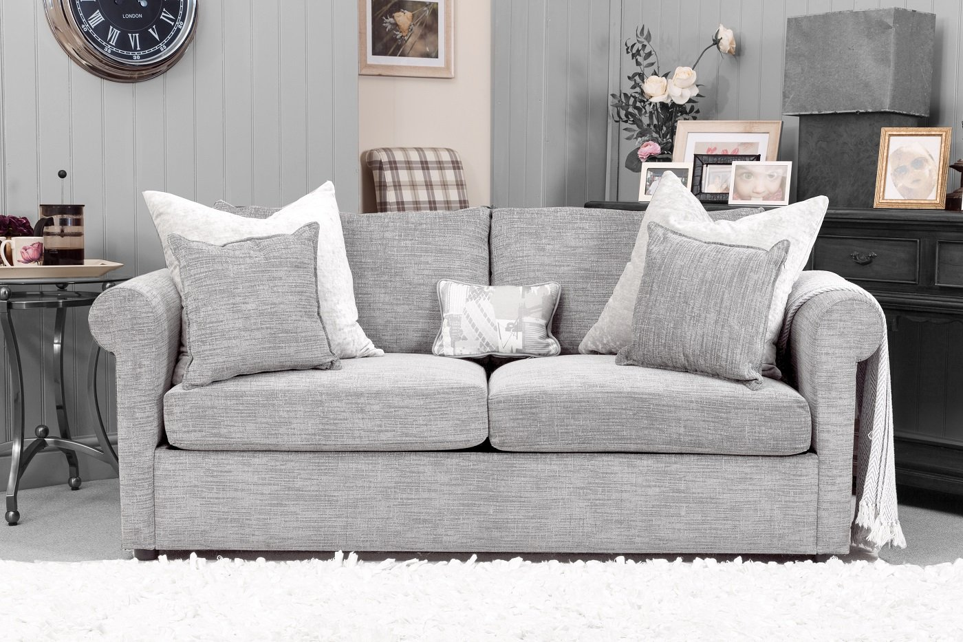 JBS London Sofa Front Facing Dressed