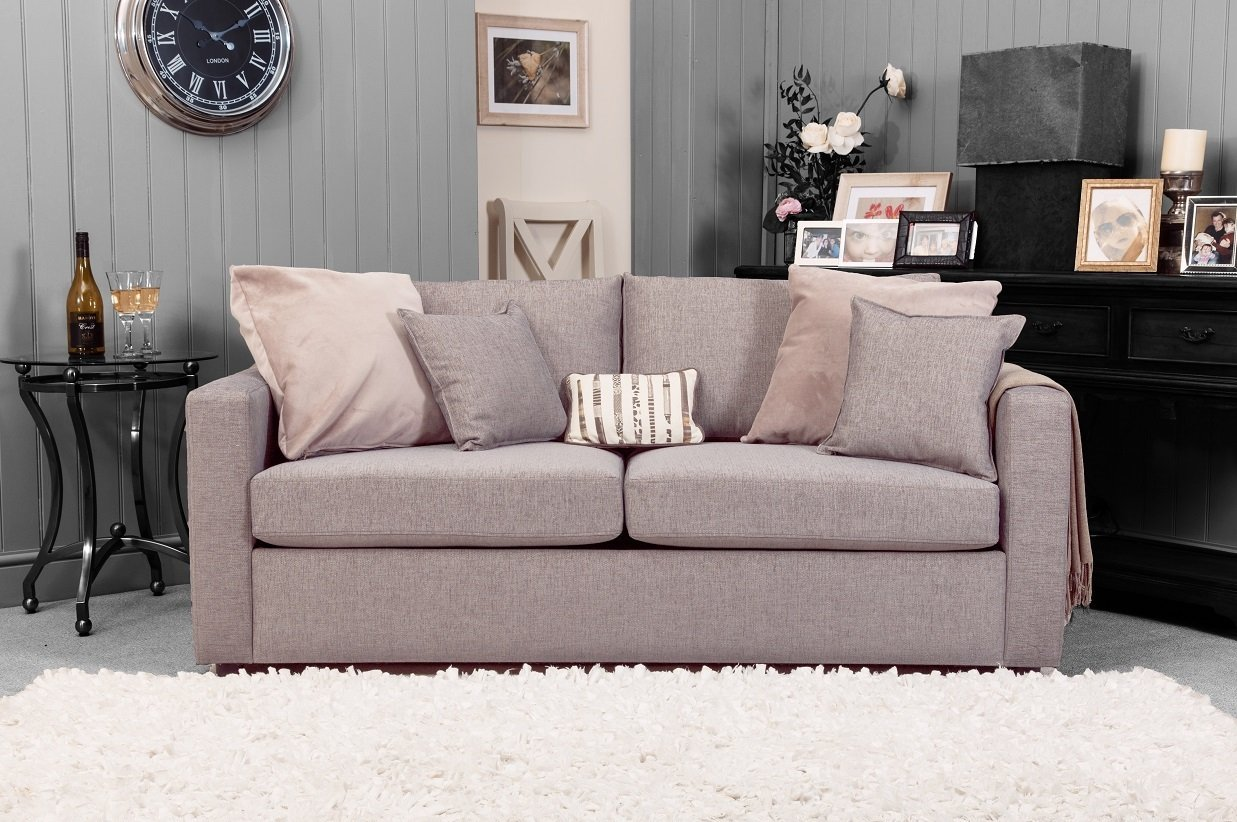 Silver Metro Sofa Front Facing Dressed 1237x 822