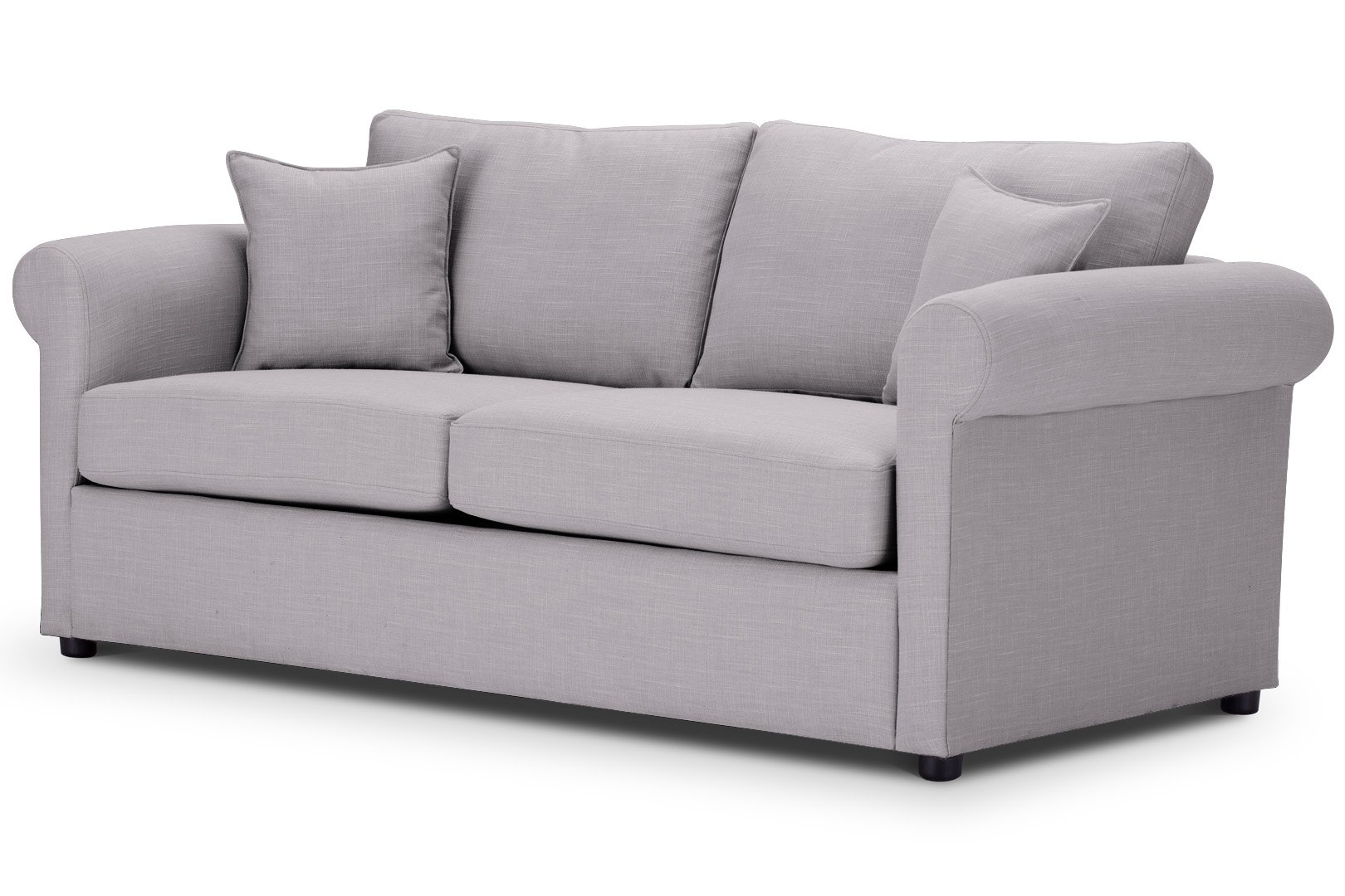 London Sofa-Bed-Rounded-arms-in-Emporio-SILVER-Fabric-Emp517