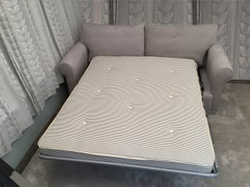 London Supreme Sofa bed showing uncovered mattress