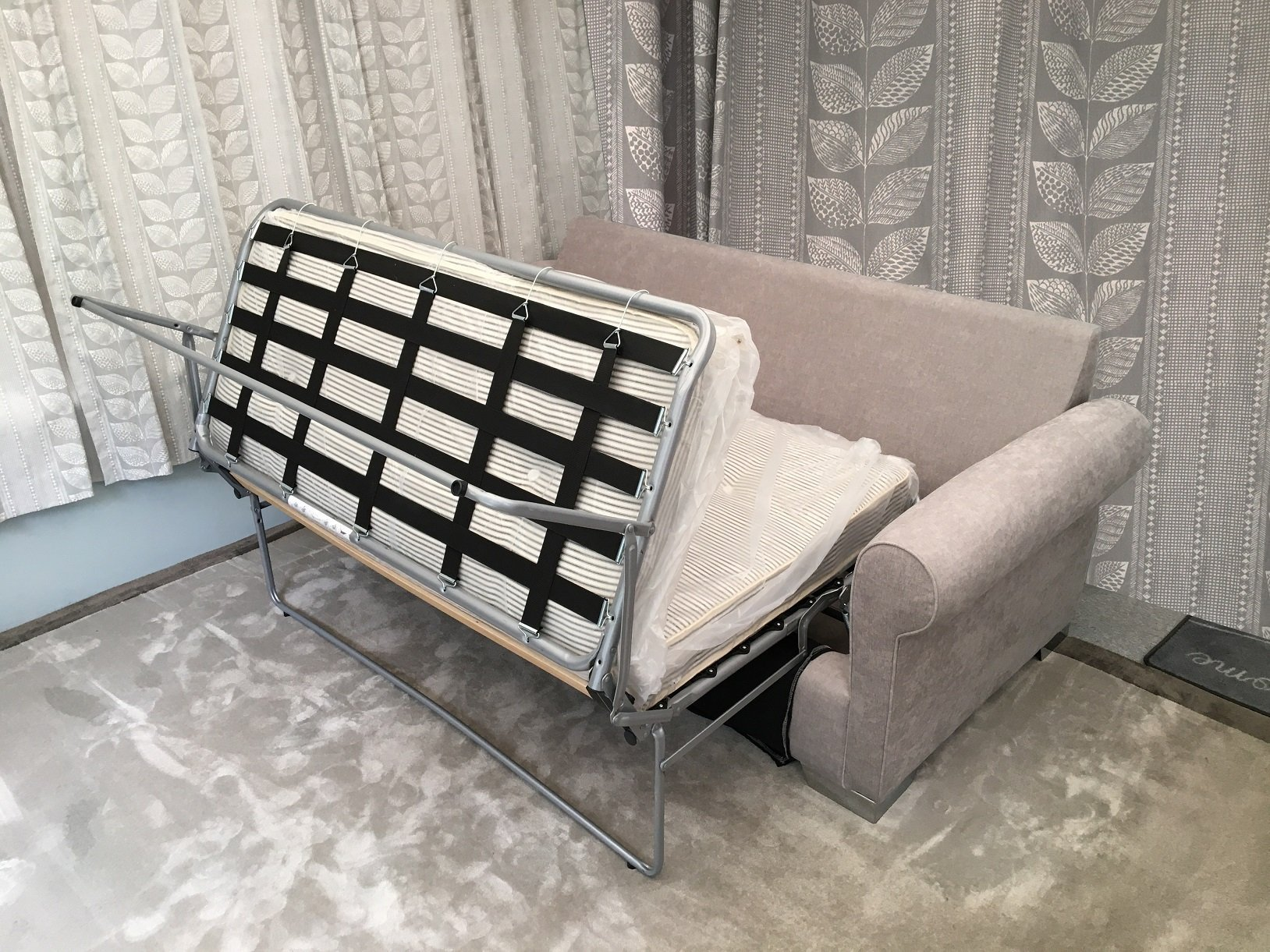 London Supreme sofa bed open midway